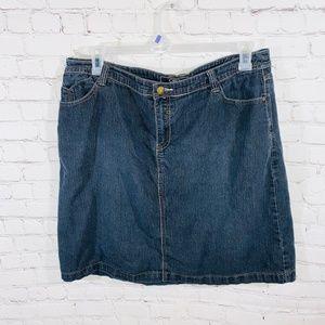 Cato Women Dark Wash Midi Denim Skirt 16W
